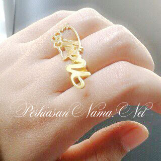 Cincin Nama Hello Kitty