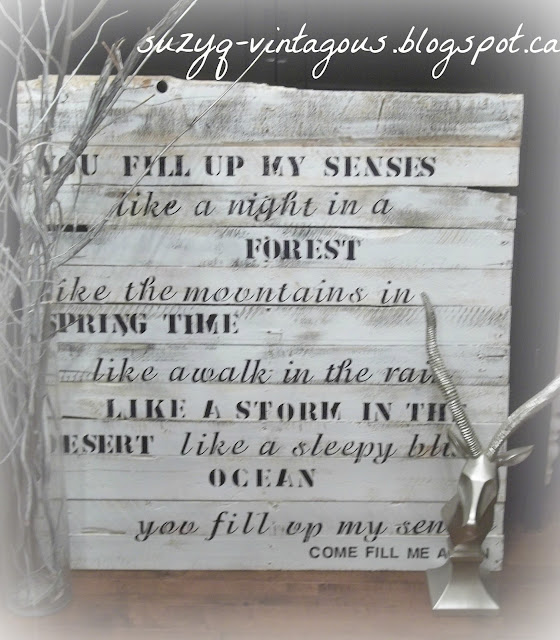 Oversized pallet art, John Denver Tribute Art, Annie's Song lyrics on art
