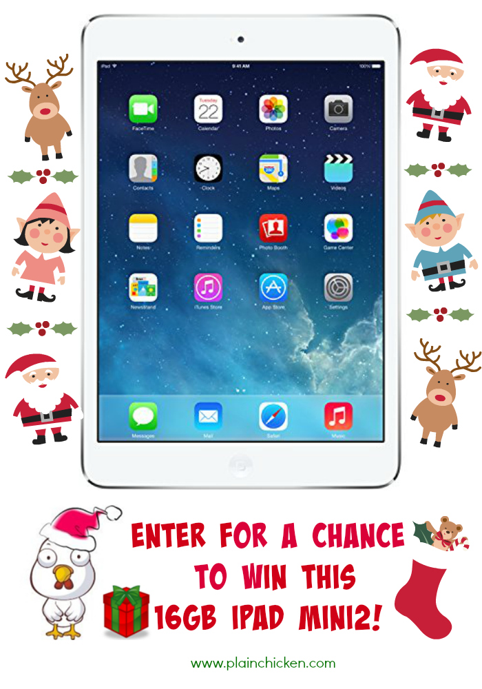iPad Mini2 Giveaway on PlainChicken.com