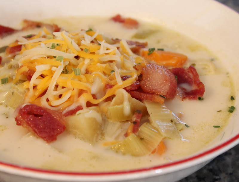 Cooking with Mandy: Creamy Potato Leek Soup {Slow Cooker}