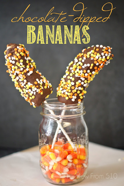 Chocolate-Dipped Bananas  - quick and delicious treat!
