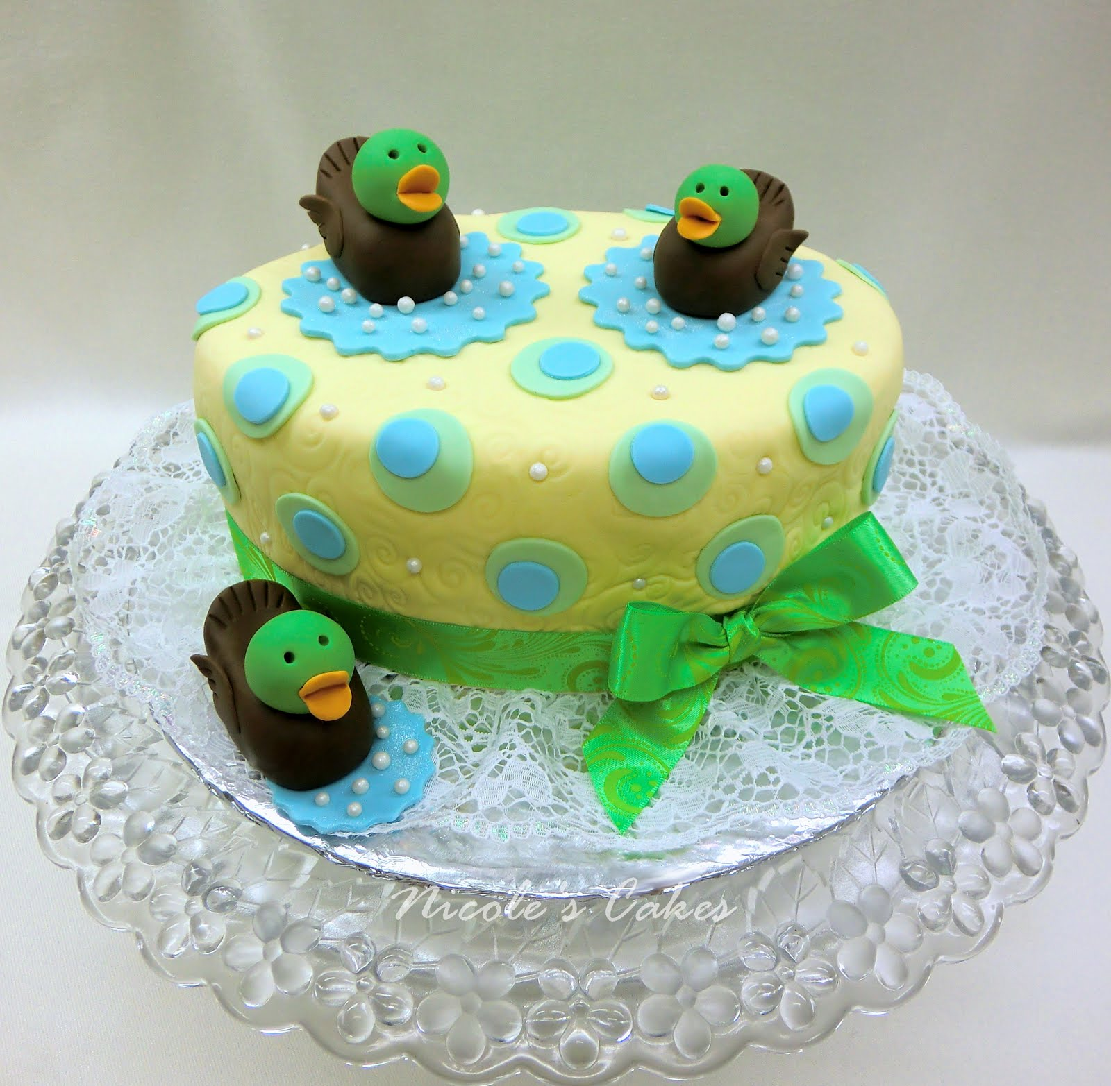 Confections, Cakes & Creations!: 'Just Ducky!'... A Baby Shower Cake