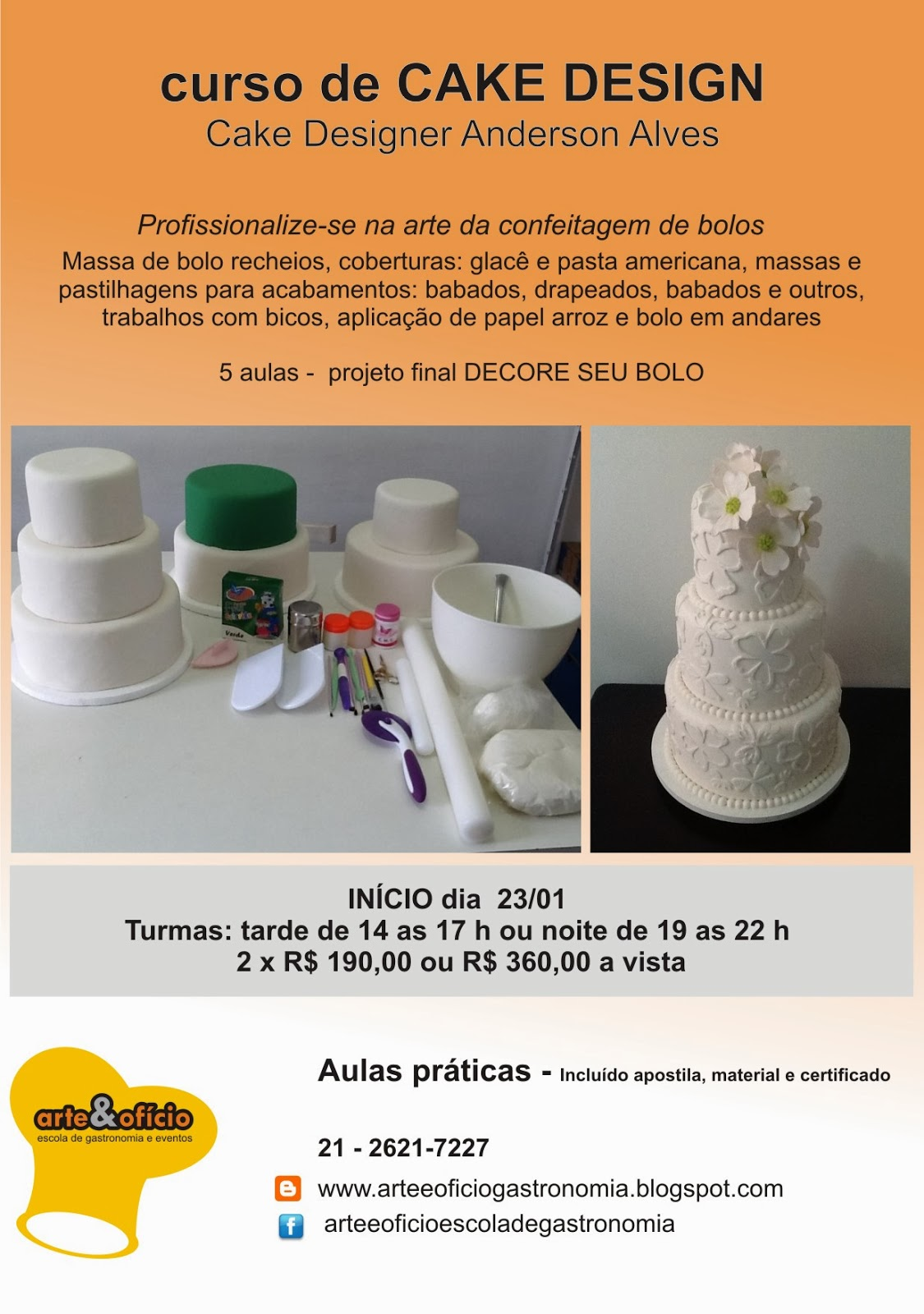 Curso De Cake Design Viseu : Arte e Oficio: curso de CAKE DESIGN - turmas TARDE E NOITE
