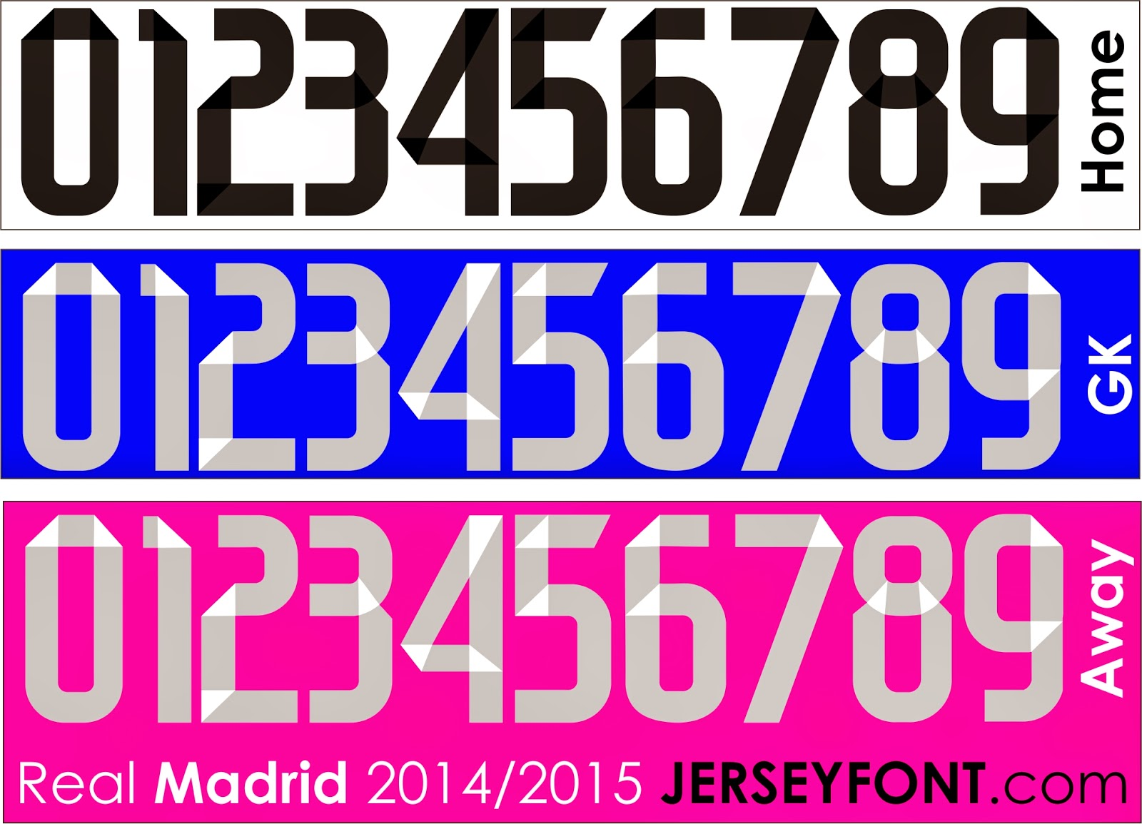 font by myself and this font belongs to adidas real madrid use it for ...