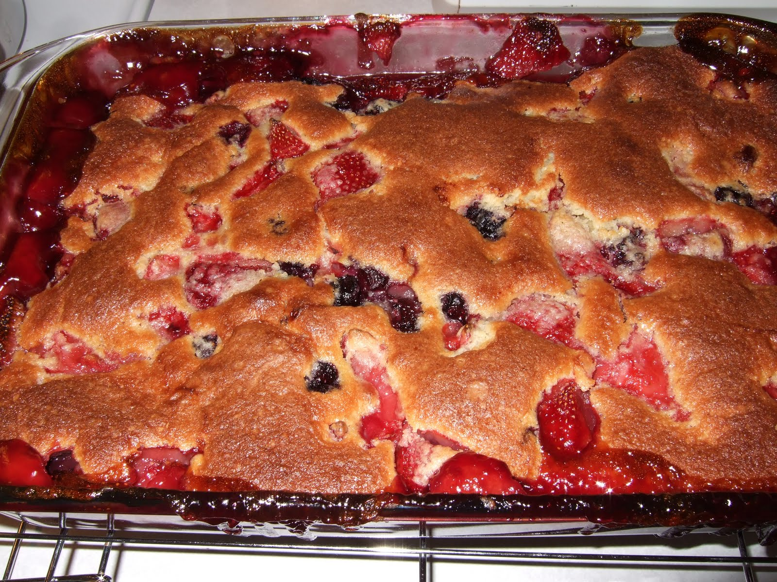 Her Yellow Apron: Mixed-Berry Spoon Cake