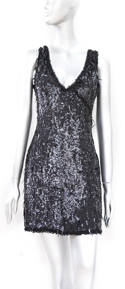 cecilia de bucourt cdbstore spike sequin black party dress