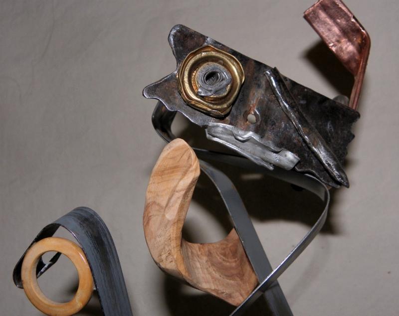 sculpture recyclage Picoiso par Ama