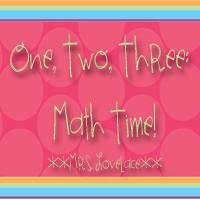 One, Two, Three:  Math Time!
