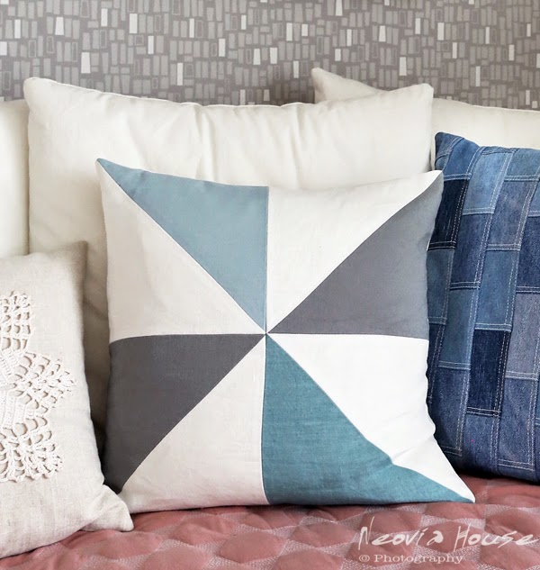 Modern Patchwork Pillow : neovia house: Modern Patchwork Pillow