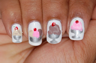 orly dayglow, ice cream nail, sundae nails
