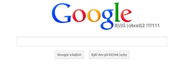 Doodle de Google - lenguaje Leet