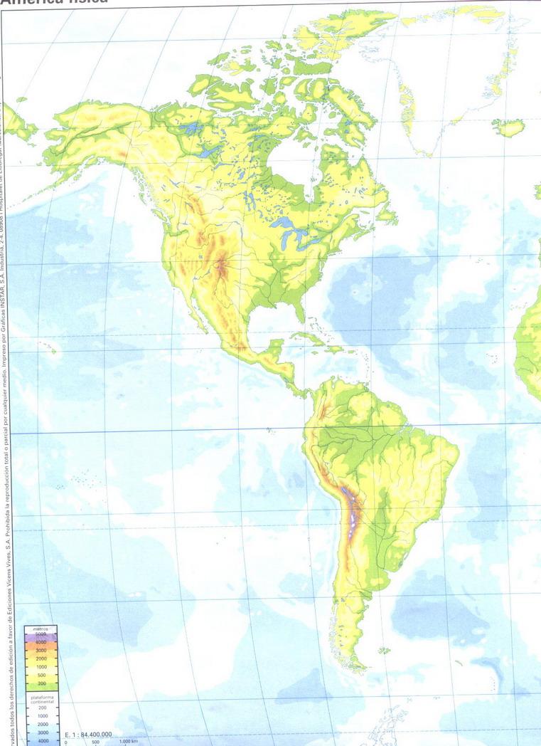 El blog de Sociales Mapa fsico Amrica