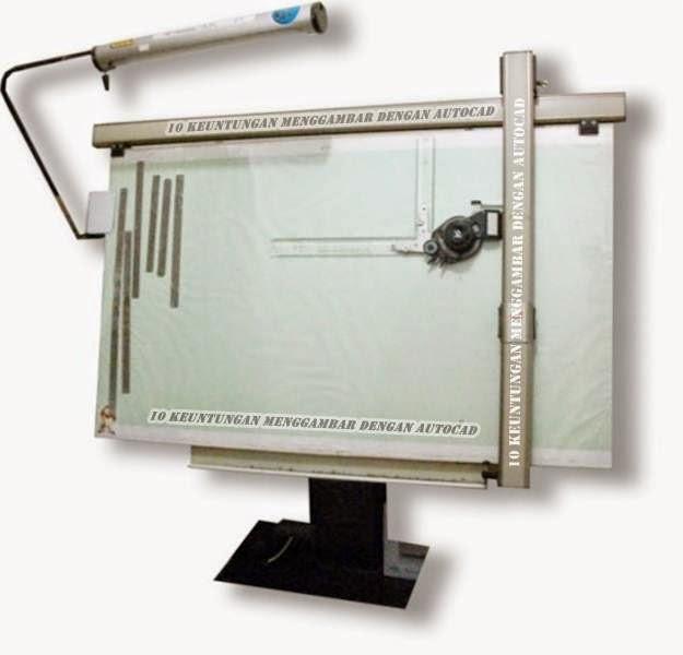 10 Keuntungan menggambar dengan menggunakan AutoCAD, keuntungan, kelebihan, keunggulan, Autocad, meja, gambar, skala, sunting ruang, rapi, presisi, data