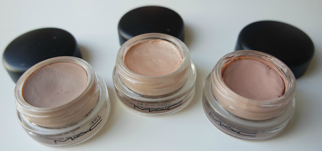 MAC Pro Longwear Paint Pots: Camel Coat, Bare Study & Painterly on http://emandhanxo.blogspot.co.uk/