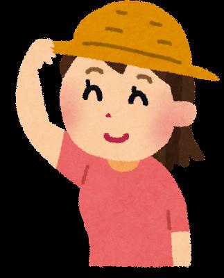 帽子をかぶっている女の子のイラスト