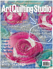Find my Article in the Summer 2013 Issue of Art Quilting Studio