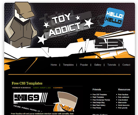 Toy Addicts Blogger Theme