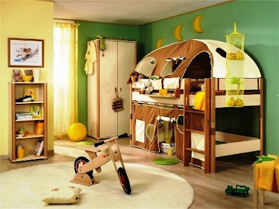 foto dormitorio con literas para niños