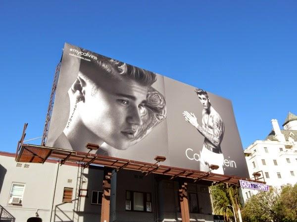 Justin Bieber Calvin Klein Underwear 2015 billboard