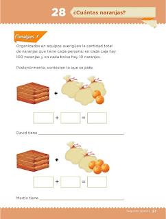 Apoyo Primaria Desafíos Matemáticos 2do Grado Bloque 2 Lección 28 ¿Cuántas naranjas?