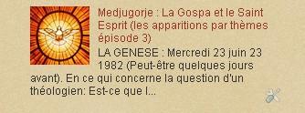 Medjugorje : La Gospa et le Saint Esprit (les apparitions par thèmes épisode 3)