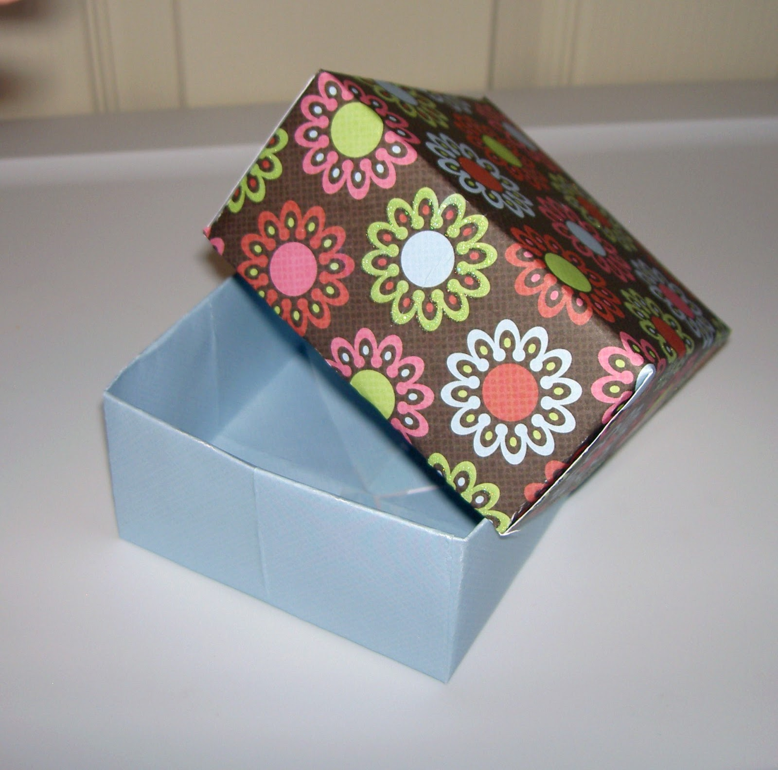christensen crafts and such how to make a paper box. Black Bedroom Furniture Sets. Home Design Ideas