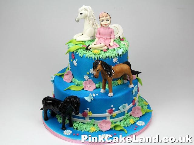 Birthday Cake with Horses - London Cakes