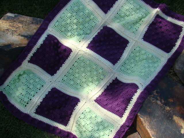 Free Crochet Popcorn Baby Blanket Pattern : Crafts By Starlight: Popcorn Baby Blanket
