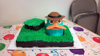 Perry the Platypus Agent P Phineas and Ferb bithday cake
