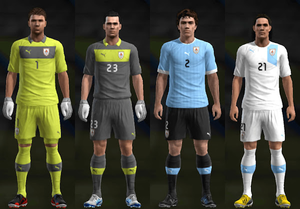 PES 2013 Uruguay 2013 Kits by Santy Argentina