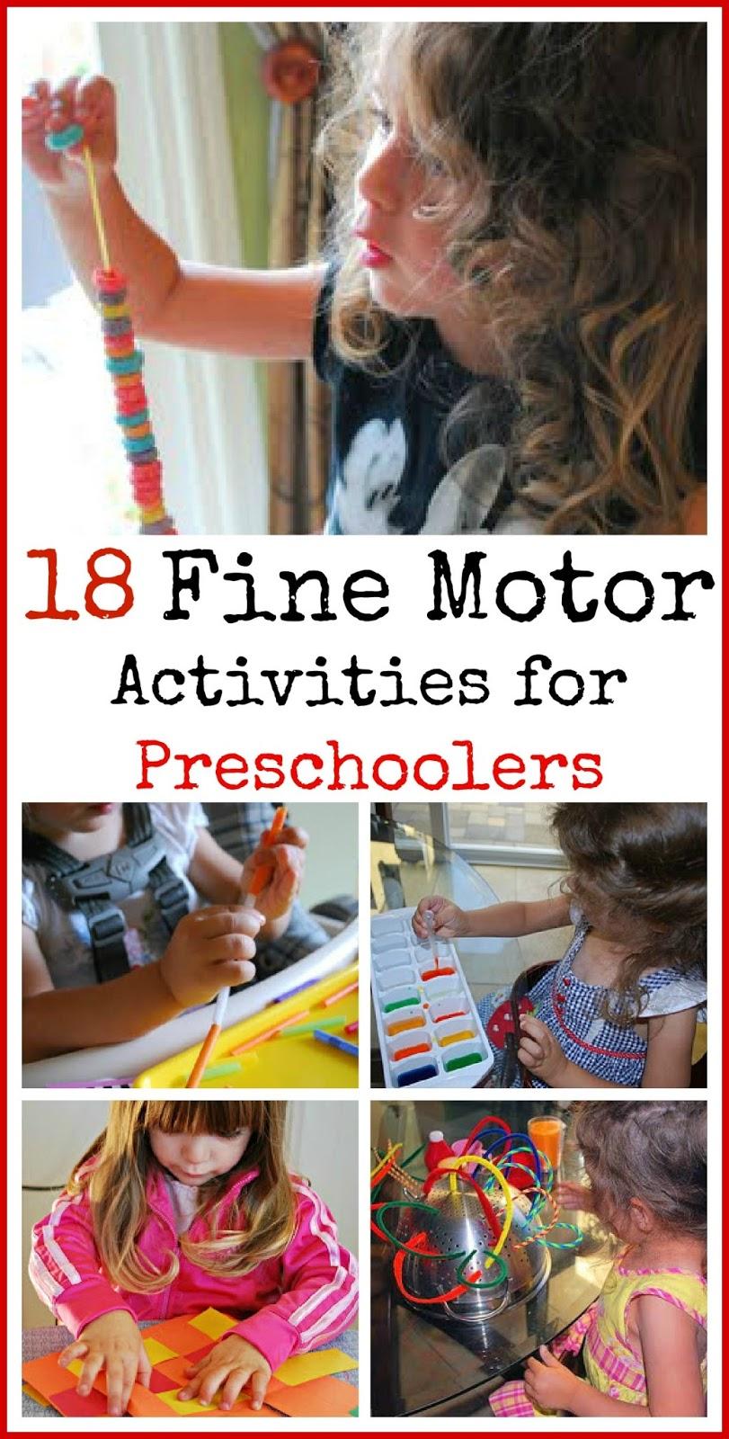 18 fine motor activities for preschoolers mommy blogs for List of fine motor skills for preschoolers