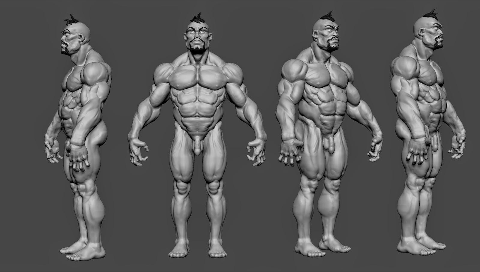 Michel Quach: Male Anatomy, concept by Kim Jung Gi