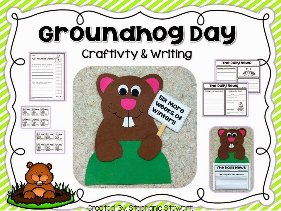http://www.teacherspayteachers.com/Product/Groundhog-Day-Craft-and-Writing-487594