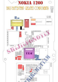 Solusi Nokia 1200 VBATT,BSI,BTEMP