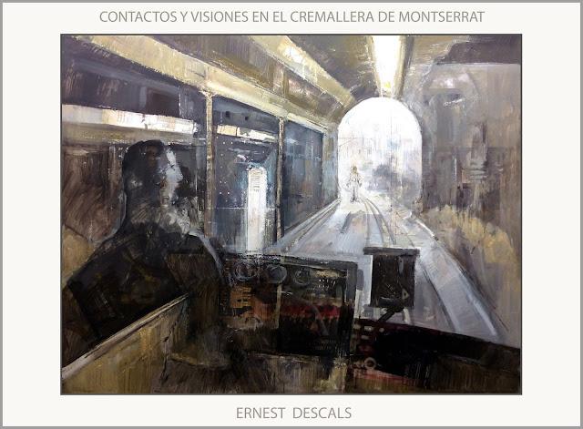 CONCTACTOS-MONTSERRAT-ARTE-PINTURA-VISIONES-EXTRATERRESTRES-TREN-CREMALLERA-PINTURAS-FENOMENOS-PARANORMALES-PINTOR-ERNEST DESCALS-