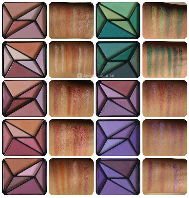 E.L.F 150 Piece Geometric Eye shadow Palette review swatches pakistan beauty blog