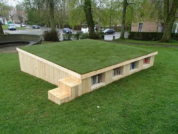 Librer a al aire libre con palets - Estructuras con palets ...