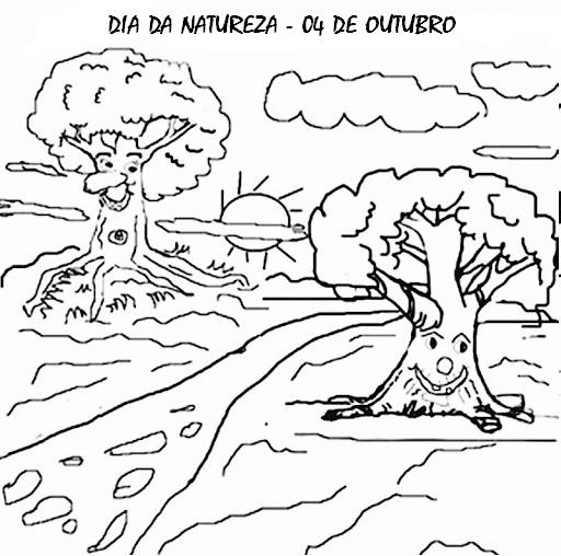 ATIVIDADES DIA DA NATUREZA EXERCÍCIOS DESENHOS COLORIR ...