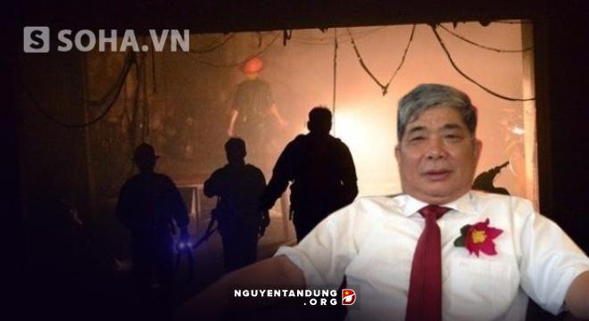 Ông Thản và hiện trường vụ cháy ở Xa La.