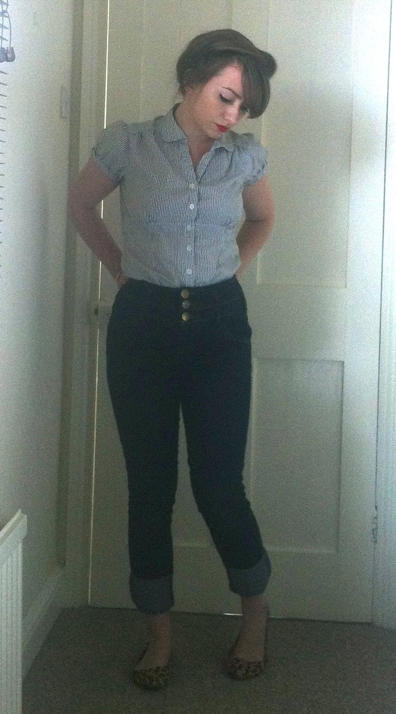 High waist 50's jeans