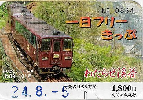 わたらせ渓谷鐵道 一日フリーきっぷ
