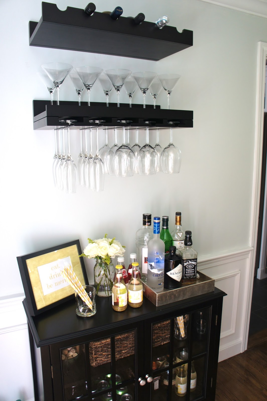 Home with baxter an organized home bar area - Bars for house ...