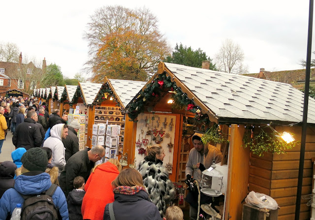 Winchester Christmas Market Stalls Festive Cathedral