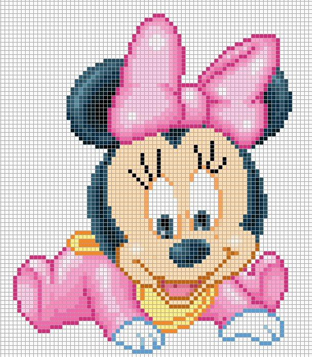 Punto Croce Disney Babies 40 Minnie Baby