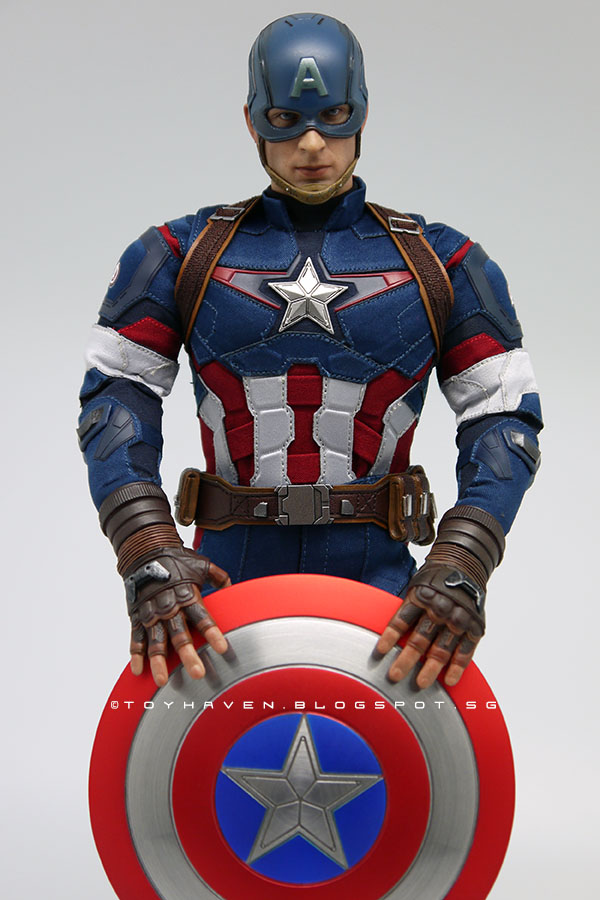 "1//6 Captain America Head Sculpt avec cou Avengers fin de 12/"" figure masculine"
