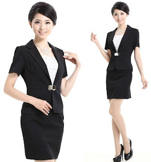 contoh model seragam kantor wanita terbaru