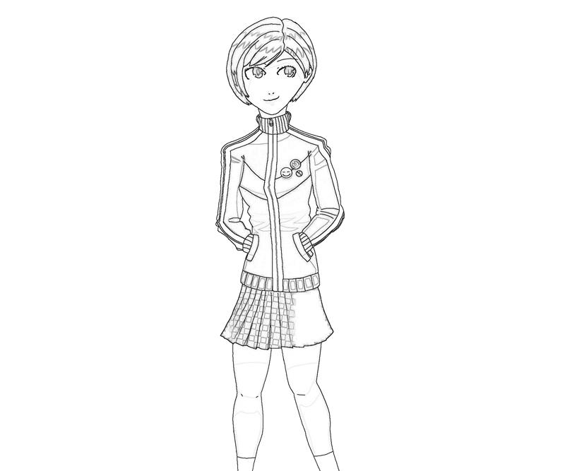 chie-satonaka-cool-coloring-pages