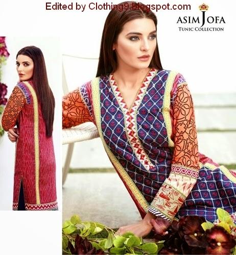 Asim Jofa Tunic 2015 Collection