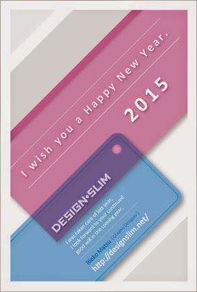 2015年 DESIGN+SLIM 年賀状