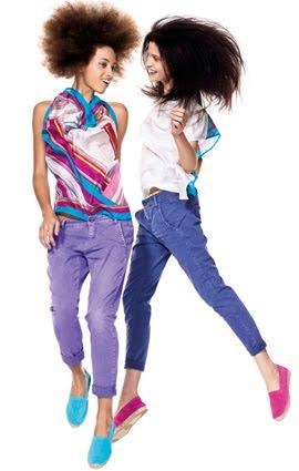 pantalones colores para mujer